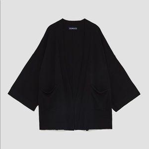 ZARA Kimono Style Oversized Cardigan